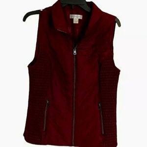 Christopher & Banks Womens Maroon Zip Up Vest M